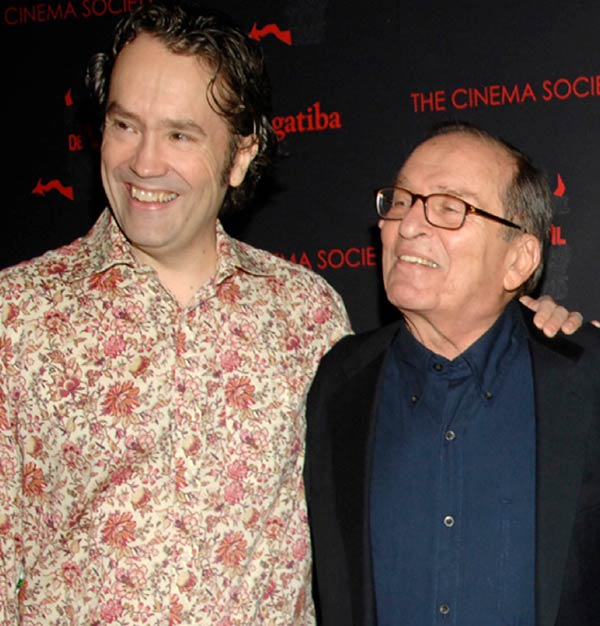 Carter Burwell and Sidney Lumet at 2007 New York Film Festival